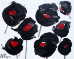 Black Poppies, 2013, acrylic/canvas, 70×100 cm