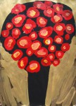 Red Bouquet, 2013, acrylic/paper, 86x61cm