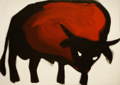 Bull, 2014, acrylic/paper on canvas, 50×70 cm