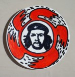 Che (from Heroes series), 2002, ceramics, marker