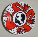 Lenin (from Heroes series), 2002, ceramics, marker