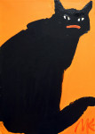 Black cat (Orange), 2014, 70х50 cm