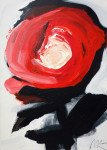 Rose is Rose, 2014, acrylic/paper on canvas, 86×61 cm
