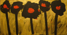 Poppies, 2012, acrylic/canvas, 56×108 cm