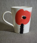 Mug Poppy, 2016, faience, painting with engobe, 0,4l