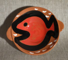 Bowl Red Fish, 2016, earthenware with underglaze painting, d 200 mm