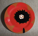 Plate Red Poppy, 2016, d250 mm, earthenware, underglaze painting