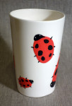 Vase Ladybugs, 2016, faience, painting with engobe, 1,5 l,