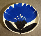 Plate Cornflower, 2016, faience, painting with engobe