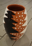 Vase December, 2016, earthenware, underglaze painting