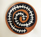 Plate The Snake, eathenware, underglaze painting